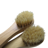 Close up dry skin brushes